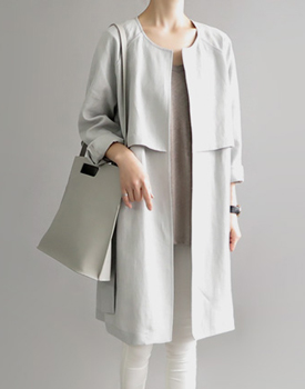 Hampton linen coat - sora (sky blue)