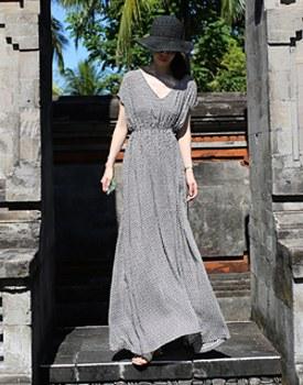Ethnic long onepiece dress