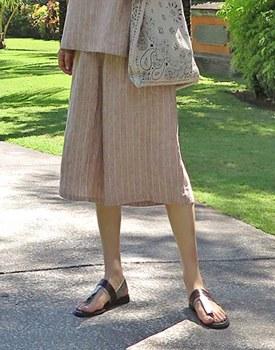 Stripe Linen 7 Pants