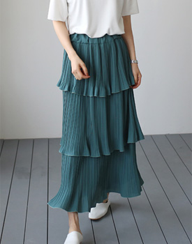 Three-deckers cancan skirt - 3c