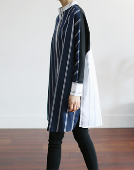 Ben match color long shirt