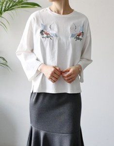 Serre embroidery tee - 3c is gently point ~