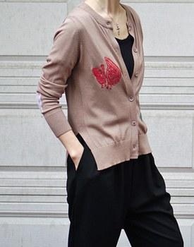 Della embroidery cardigan - 3c