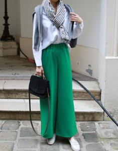 Cheny wide pants -3c