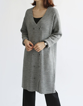 Double button cardigan & ops - 2c