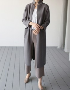 [The day of shipment; eopeon Long cardigan (gray ink) Please see details in stock as of the cut-Color Changing doeeoteoyo ~ ~ 1 differential bottom wanpan 2,3 wearing complete difference