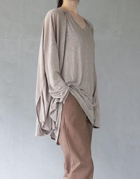 Linen slit cardigan - 3c