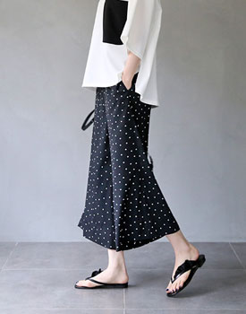 Duo dot print pants