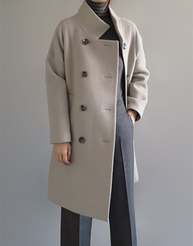 [Shipped the same day] I am fine chiselled into a warm and chunky coatWool 90% dukkegam :) Buy congestion