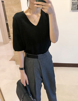 Mare V Neck Knit Top - 4c
