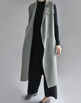 JILL SAN handmade long vest - 2 colors