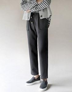 Draw string pocket pants -  2c