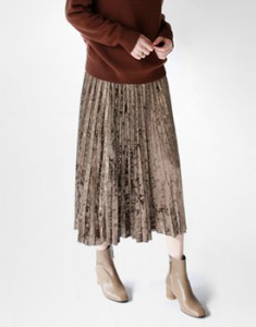 Velvet Pleats skirt - 3c