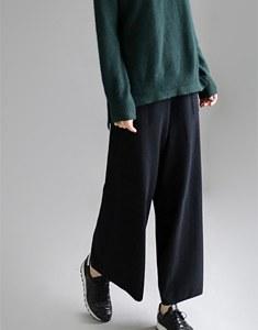 Maison Knit wide pants - 2c