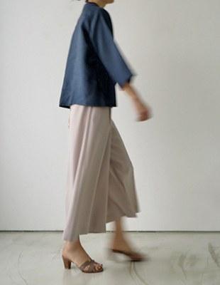 Mores wide slacks - dove beige