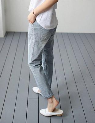 Low vintage cotton pant