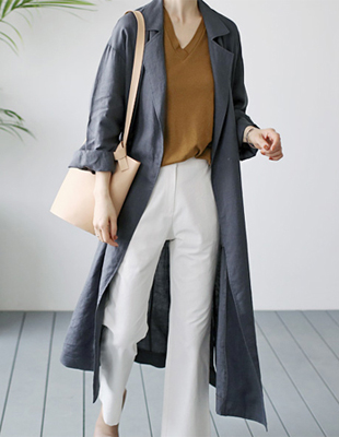 Front Linen Long Coat - 2c Fabric Requirement Many designs Good price ^^