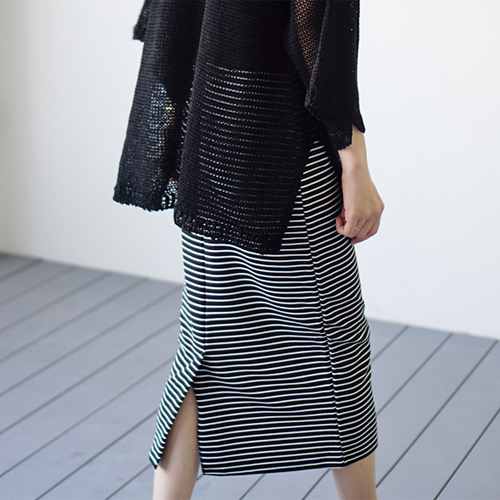 Toss stripe skirt - 2c style to look cool