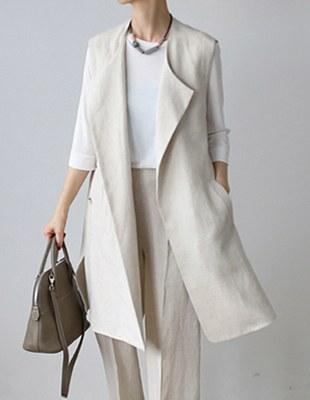 Colette Linen Vest - 2c Chic and Chic ~