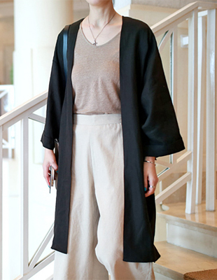 Cool linen robe cardigan