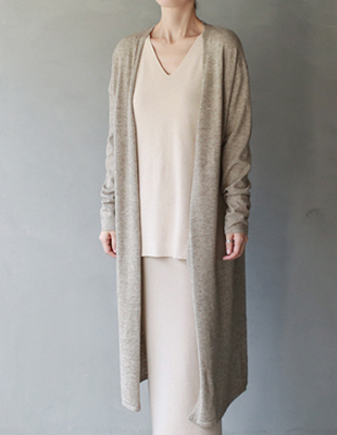 Should Long knit Cardigan - 2c