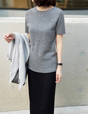 Wool Basic Knit Top - 2c