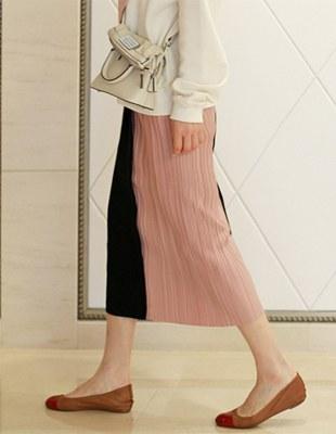 Half Pleated Skirt - 2c