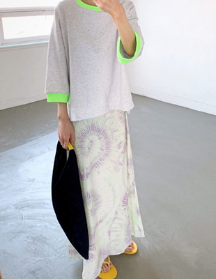 Clen textile printing Skirt - 2c