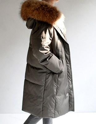 LOW raccoon jacket - Khaki