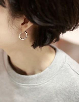Ecole silver ring-earring