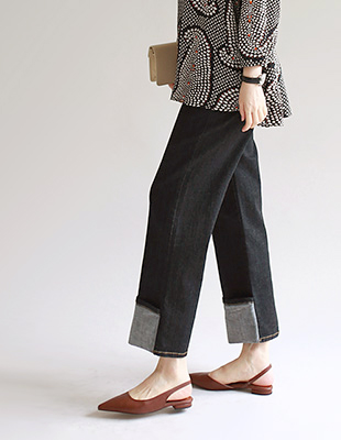 Sand wide jeans