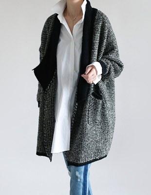 H Shawl knit cardigan