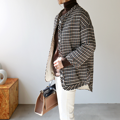 Houndstooth Bonding Jacket
