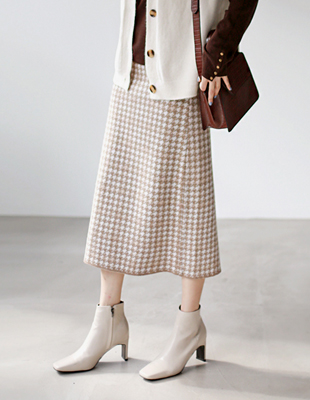 Houndstooth knit skirt - 2c