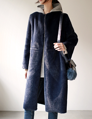 maj reversible fur coat - 2c