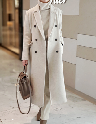 Maren herringbone long coat