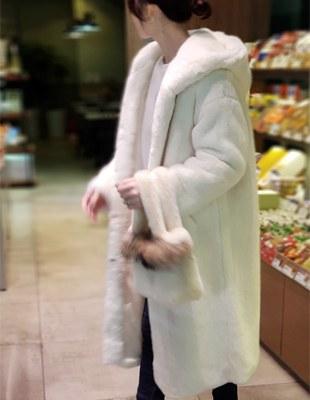 Egner hood Fur coat - 2c