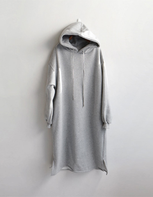 Hoody napping Long Onepiece - 2c