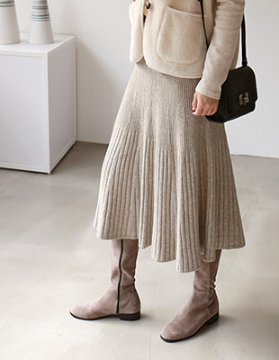 Lausanne flared knit skirt - 3c