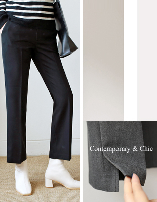 Max Slit Semi Pants - 3c