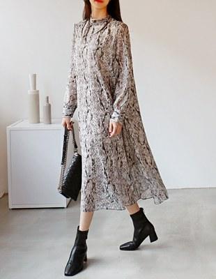 Chiffon Python Dress - 2c