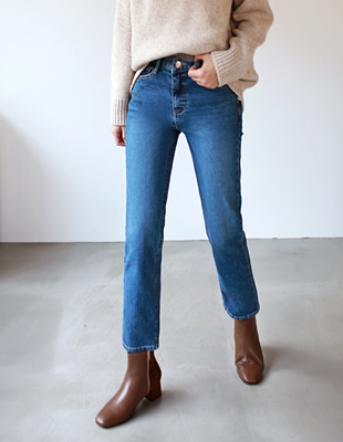Basic date brushed denim