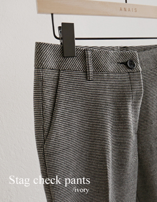 Stag check pants - 2c