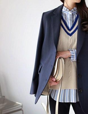 able knit - vest