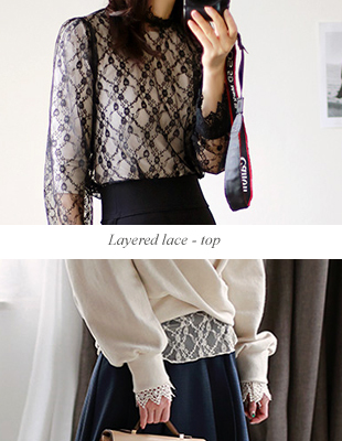 Layered lace - top