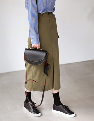 Cargo cotton skirt