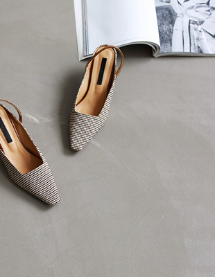 hound tooth check slingback