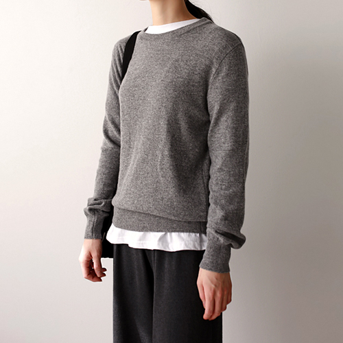 round cashmere knit top