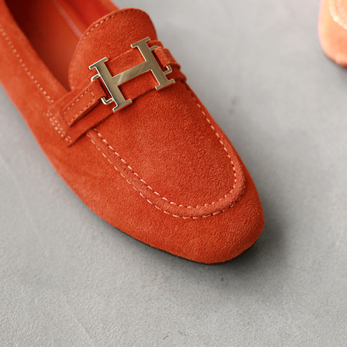 Her Suede Loafers