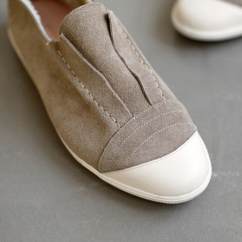Suede Lining Fur Slip-on Shoes